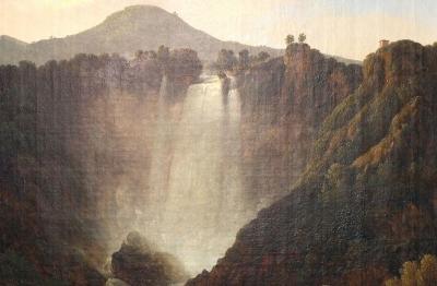Gian Battista Bassi (Massa Lombarda 1784- Roma 1852) Cascata delle Marmore, 1820
