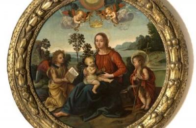 Raffaellino del Garbo, (S.Lorenzo a Vigliano, 1466 ca-Firenze 1524) (attr.), Vergine col Bambino