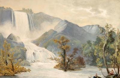 Pittore attivo nella seconda metà del XVIII secolo, Cascata delle Marmore