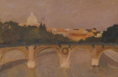 Carlo Quaglia, (Terni 1903-Roma 1970), Ponte sul Tevere