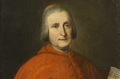 Scuola bergamasca della fine XVII secolo, Ritratto di Francesco Carrara in abito cardinalizio