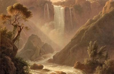 Martin Verstappen (Anversa 1773-Roma 1853), Veduta della Cascata delle Marmore