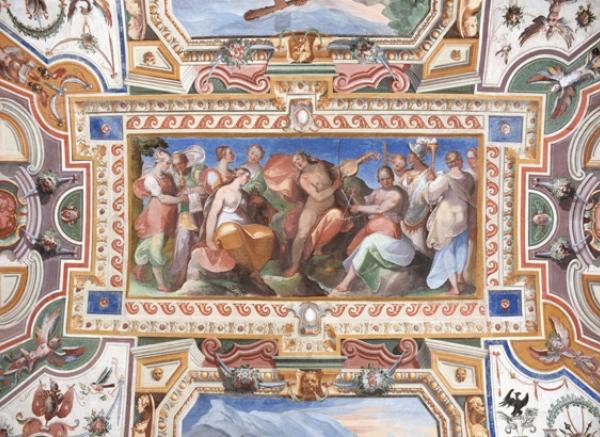 Tornano a risplendere gli affreschi di palazzo Cesi ad Acquasparta